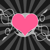 Heart over starry background Stock Photos
