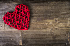Heart over wood. Love Concept Royalty Free Stock Images