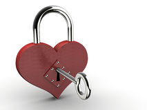 Heart padlock Royalty Free Stock Photography