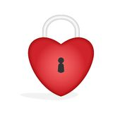 Heart - padlock Royalty Free Stock Image