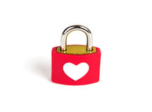 Heart padlock and key Stock Photo