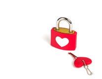 Heart padlock and key Royalty Free Stock Image