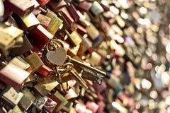 Heart padlock Stock Photos