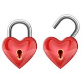 Heart padlock Stock Photo