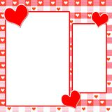 Heart Page layout. Heart Gingham layout  page - coordinates with my plain heart gingham and recipe gingham pages Royalty Free Stock Images
