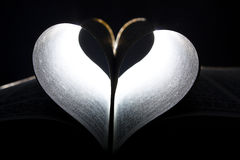 Heart in pages Stock Photography