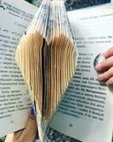 The heart of the pages of the book. royalty free stock image