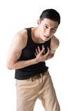Heart pain Stock Image