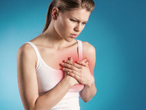 Heart pain Royalty Free Stock Photos