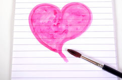 Heart paint brush Stock Photos