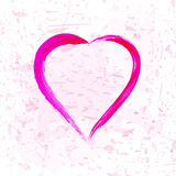 The heart and paint splashes  for Valentine`s Day or weddings. Design Stock Image