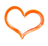 Heart and paintbrush Royalty Free Stock Photography