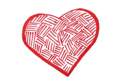 Heart painted by felt pen Stock Photo
