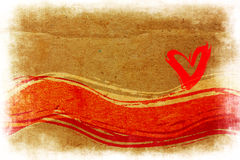 Heart Painted Grunge Brush Stock Photography