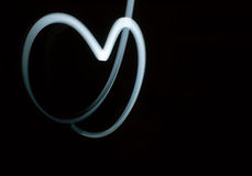 Heart Painted With Light Royalty Free Stock Photos