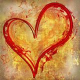 Heart painted on metal illustration Stock Photography