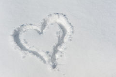 Snowheart. A Heart painted in the Snow Stock Image