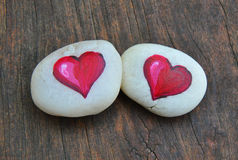 Heart painted on stone Royalty Free Stock Photo