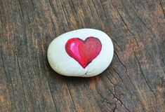 Heart painted on stone Royalty Free Stock Photos
