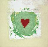 Heart Painted Two. Red Heart painted in acryl Royalty Free Stock Photos