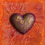 Heart painting Royalty Free Stock Images