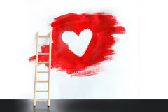 Heart Painting Stock Photos