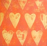 Heart Painting Stock Images