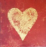 Heart Painting Stock Image