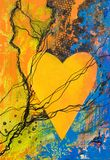 Heart painting Royalty Free Stock Photo