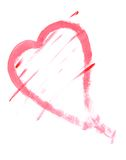 Heart Painting. Heart shape painting on white background Stock Image