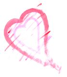 Heart Painting. Heart shape painting on white background Stock Images