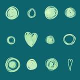 Heart paints drawing circle Royalty Free Stock Photos