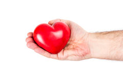Heart on the palm Royalty Free Stock Photography
