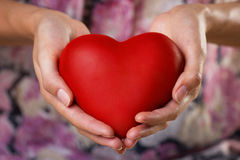 Heart in palms Royalty Free Stock Images