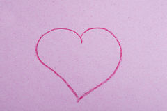 Heart on Paper Stock Photo