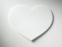 Heart on the paper background Stock Photography