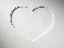 Heart on the paper background Royalty Free Stock Photos