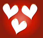 Heart Paper Background with masking tape Stock Photo