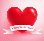 Heart with paper banner Royalty Free Stock Photo