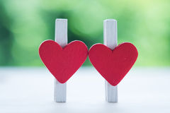 Heart of paper clip Royalty Free Stock Image