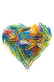 Heart from paper clips Stock Photo