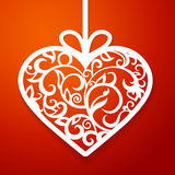 Heart paper decorative Royalty Free Stock Image