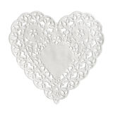 Heart paper isolated on white Stock Photos