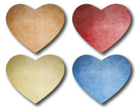 Heart paper note stick Royalty Free Stock Photos