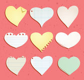 heart paper note, vector illustration Stock Images