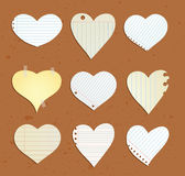 heart paper note, vector illustration. Royalty Free Stock Image