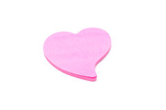 Heart paper note  Stock Image