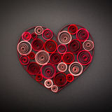 Heart of paper quilling for Valentine's day Stock Photos