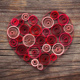 Heart of paper quilling for Valentine's day Stock Photo