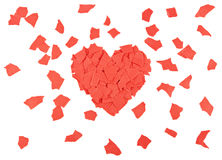 Heart of paper scraps Stock Images